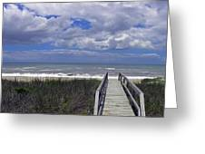 Boardwalk To The Beach Greeting Card