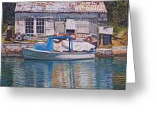 Boat And Shed St. David's Greeting Card