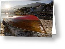 Boat And Sunlight Greeting Card
