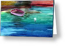 Boat And The Buoy Greeting Card