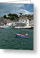 Boat At Brixham Greeting Card