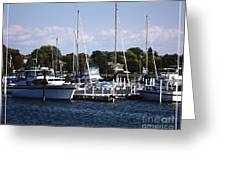 Boat Harbor In Dunkirk New York Greeting Card