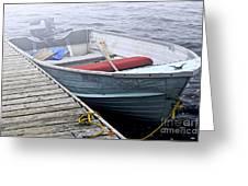 Boat In Fog Greeting Card