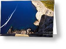 Boat In The Sea Greeting Card
