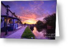 Boat Inn Sunrise 1.0 Greeting Card
