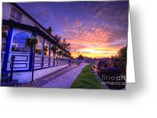 Boat Inn Sunrise 2.0 Greeting Card