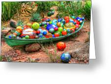 Boat Of Glass Greeting Card