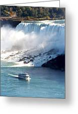 Boat On Niagara Falls Greeting Card