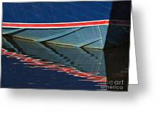 Boat Reflection 2 Greeting Card
