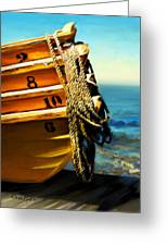 Boat Ropes Greeting Card by Suni Roveto