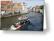 Boat Tours In Brugge Belgium Greeting Card