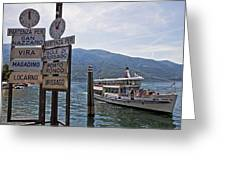 Boat Trip On Lake Maggiore Greeting Card