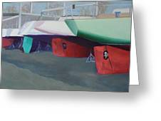 Boat Yard Island Heights Greeting Card