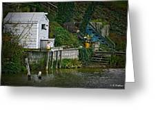 Boathouse Boy Fishing Greeting Card