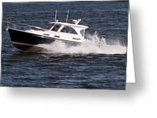 Boating On The Bay Greeting Card