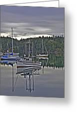 Boating Reflections Greeting Card