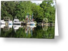 Boats Are In Greeting Card