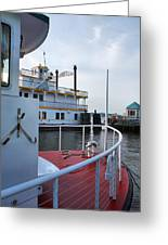 Boats At Alexandria Greeting Card