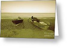 Boats At Beesands Greeting Card