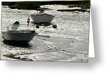 boats at low tide in Cape Cod Greeting Card
