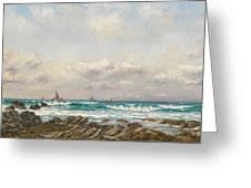 Boats At Sea Greeting Card