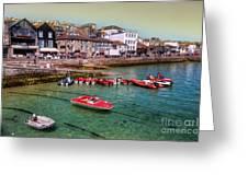 Boats At St Ives  Greeting Card