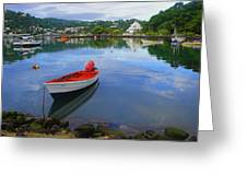 Boats-castries Harbor- St Lucia Greeting Card