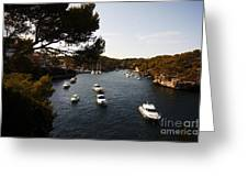 Boats In Cala Figuera Greeting Card
