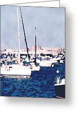 Boats In Summer  Greeting Card