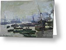 Boats In The Pool Of London Greeting Card