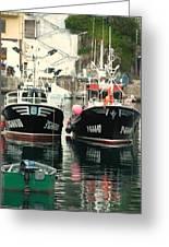 Boats Greeting Card by Jenny Senra Pampin