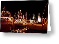 Boats Lighted Greeting Card