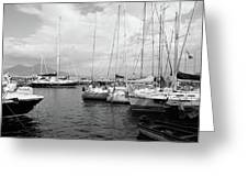 Boats Meeting Greeting Card