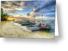 Boats Of Panglao Island Greeting Card