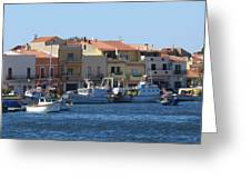boats of Sant Antioco Greeting Card