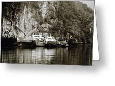 Boats On Halong Bay 1 Greeting Card