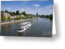 Boats On River Dee Greeting Card