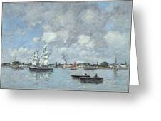 Boats On The Garonne Greeting Card