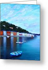Boats On The Riviera Greeting Card