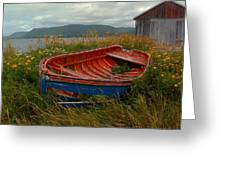 Boats  Shore In Time Greeting Card