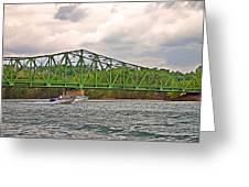 Boats Under Bridge Greeting Card
