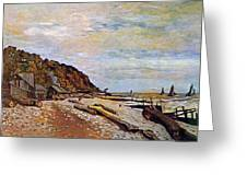 Boatyard Near Honfleur Greeting Card by Claude Monet