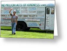 Bob And The Kindness Bus Greeting Card
