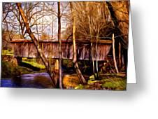 Bob White Covered Bridge Greeting Card