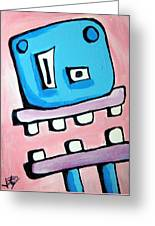Bobmo The Robot Greeting Card