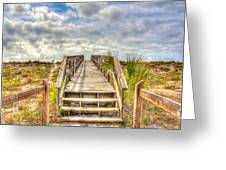 Boca Grande Boardwalk Greeting Card
