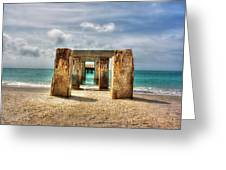 Boca Grande Ruins In Paradise Greeting Card