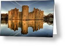 Bodiam Castle Greeting Card by Mark Leader