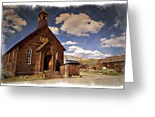 Bodie Church - Impressions Greeting Card