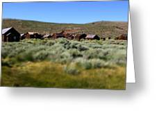 Bodie Ghost Town Landscape Greeting Card
